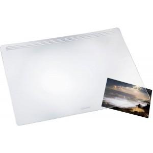 Schreibunterlage Matton, 50x70cm, transparent glasklar, ohne Abdeckung