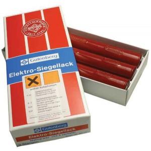 Siegellackstangen,Elektrolack,zinnoberot Gutenberg Elektrolack für schnelles