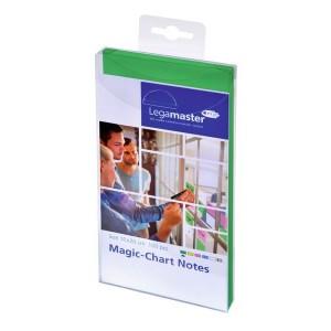 Magic Chart Notes 10 x 20 cm, grün, haftet ohne Kleber, abwischbar,