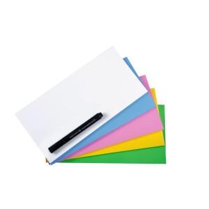 Magic Chart Notes 10 x 20cm, sortiert, haftet ohne Kleber, abwischbar,