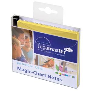 Magic Chart Notes 10 x 10 cm, gelb, haftet ohne Kleber, abwischbar,