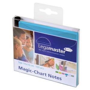 Magic Chart Notes 10 x 10 cm, blau, haftet ohne Kleber, abwischbar