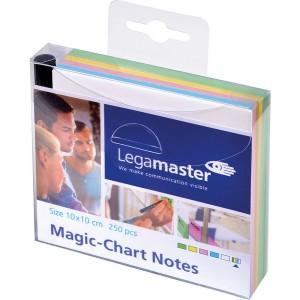 Magic Chart Notes 10 x 10 cm, sortiert, haftet ohne Kleber,