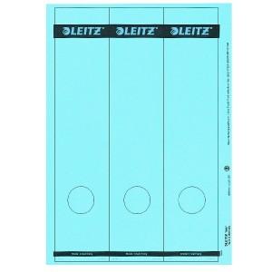 Papierrückenschild lang/breit blau A4 25 Blatt = 75 Stück