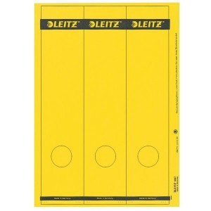 Papierrückenschild lang/breit gelb A4 25 Blatt = 75 Stück