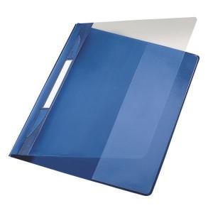Exquisit Plastik Schnellhefter blau A4 mit Falz, Überbreit