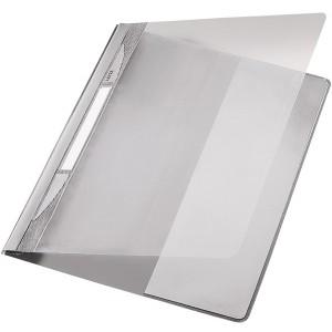 Exquisit Plastik Schnellhefter grau A4 mit Falz, Überbreit