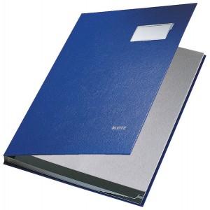 Unterschriftsmappe 10Fächer PP blau