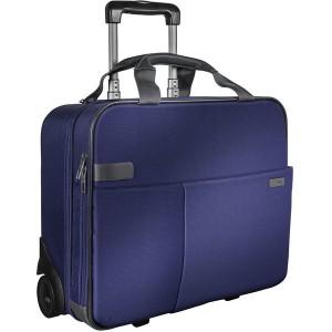 Handgepack Trolley Smart Traveller tiatan blau, elegante Tragegriffe