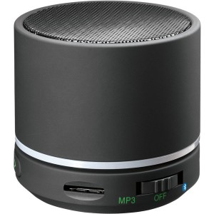 Mini Konferenz Bluetooth Lautsprecher WOW, schwarz, Kompakt und tragbar.