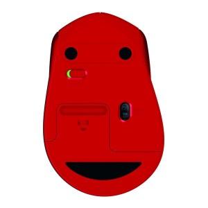 Maus M330 silent, rot, kabellos, über 90% reduzierte Klickgeräusche,
