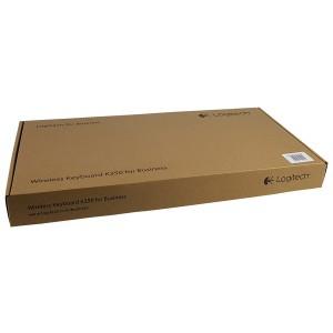 Logitech Tastatur K350, schwarz, Kabellos Ergonomisch, Business