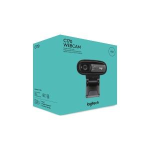 Logitech Webcam C170, schwarz USB, 720p, 1024x768, 5 MP, Retail