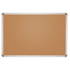 Pinnboard MAULoffice 60/90cm gr Kork Alurahmen,Ecken grau