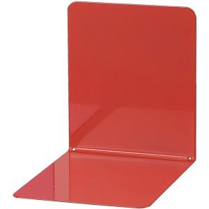 Buchstütze Metall rot breit 14x14x13cm, 1 Paar