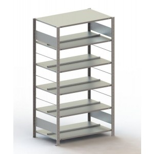 Büro Steck-Grundregal Meta Compact H1850xL1000xT600 komplett mit