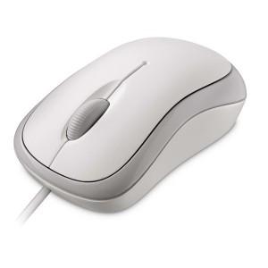 Basic Optical Mouse weiß, kabel- gebunden, f. Rechts- u. Linkshänder