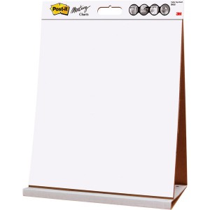 Post-it Meeting Chart Table Top 508mmx584mm 20 Blatt weiß