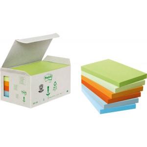 Post-it Notes Recycling Mini Tower Pastell 127x76mm, 100 Blatt/Block
