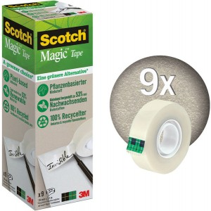 Scotch Magic Klebeband 900 Pack mit 9 Rollen 19mmx33m