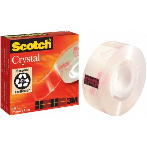 Klebefilm Scotch 600 19mmx33m Cristal Clear Tape