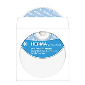 CD-DVD Hülle selbstkl. Papier weiss 124x124mm mit Sichtfenster 1000St