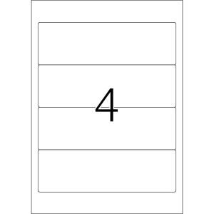 Ordneretiketten 192x59mm kurz/breit ws 25 Blatt=100 Etiketten
