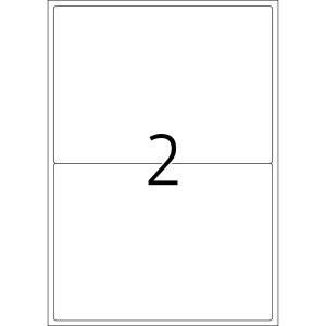 Kennzeichnungsetiketten 99,6x143,5mm ws 100 Blatt=200 Etiketten