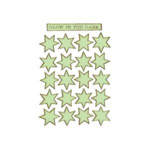 Schmucketikett Magic Sterne Tagesleuchtfolie 1Bl 1Pack