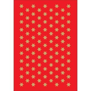 Schmucketikett Decor Sterne 6mm Goldfolie 3Bl 1Pack