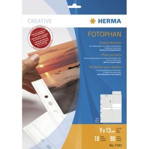 Fotoeinlageblatt A4 fotophan 9x13hoch weiss PP-Folie 10Bl