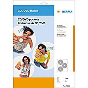 CD-DVD Hüllen DIN A4 für 6 CDs 5 Hüllen je Packung