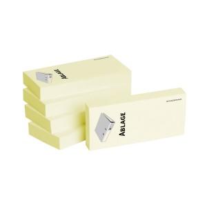 Haftnotizen 75 x 35 mm, gelb Ablage