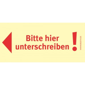 Haftnotizen 75 x 35 mm, gelb Bitte hier Unterschreiben