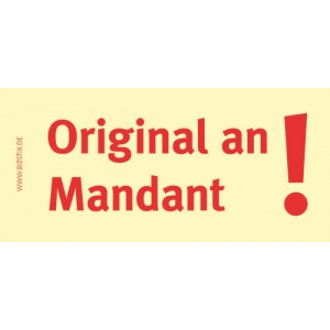 Haftnotizen 75 x 35 mm, gelb Origninal an Mandant