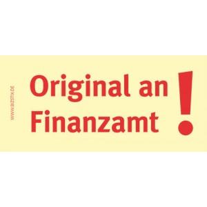 Haftnotizen 75 x 35 mm, gelb Original an Finanzamt