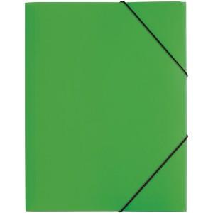 Gummizugmappe A4, 3 Klappen, Trend, grün