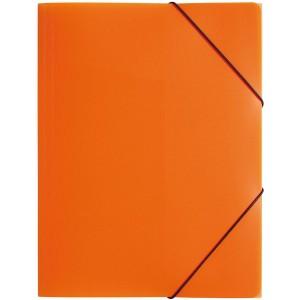 Gummizugmappe A4, 3 Klappen, Trend, orange