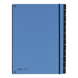 Pultordner 12 Fächer, hellblau