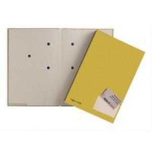 Unterschriftsmappe gelb Einband aus Hartpappe mit