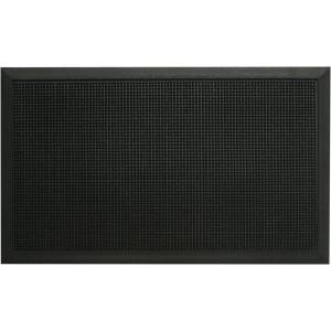 Gummifußmatte 60 x 80 cm, schwarz 100% Kautschuk