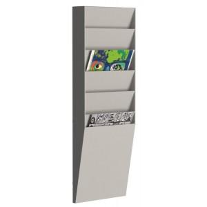 Sortiertafel hoch 6 Fächer A4 grau Außenmaß:71,2x23,6x8,3