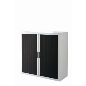 Rolladenschrank Stecksystem easyOffice weiss / schwarz 1m