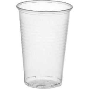 Trinkbecher Kunststoff transparent 0,3l mit Füllstrich 100 Stück
