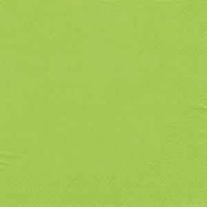 Servietten 33x33cm 1/4 Falz 3lag. apfelgrün unifarbig
