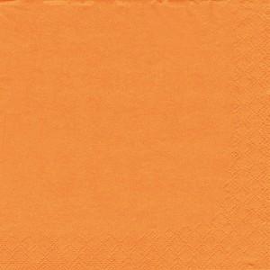 Servietten 33x33cm 1/4 Falz 3lag. orange unifarbig 250 Stück