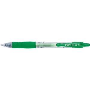 Gelschreiber G2, mit Druckmechanik Edelstahlspitze, 0,4mm, grün
