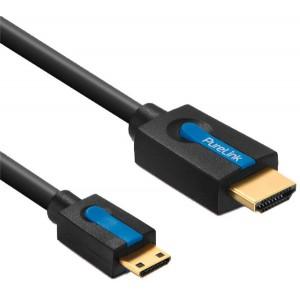 High Speed HDMI/Mini HDMI-Kabel, mit Ethernet, 2,0m, 4K 3D, FullHD