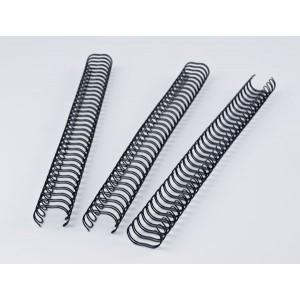 Binderücken Renz Ring Wire 3:1 14,3 mm für 120 Blatt schwarz