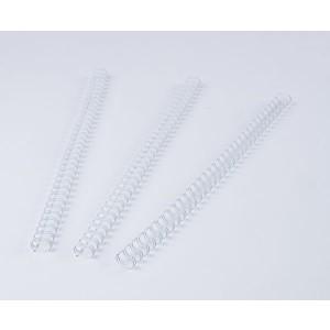 Binderücken Renz Ring Wire 2:1 9,5 mm für 75 Blatt weiß